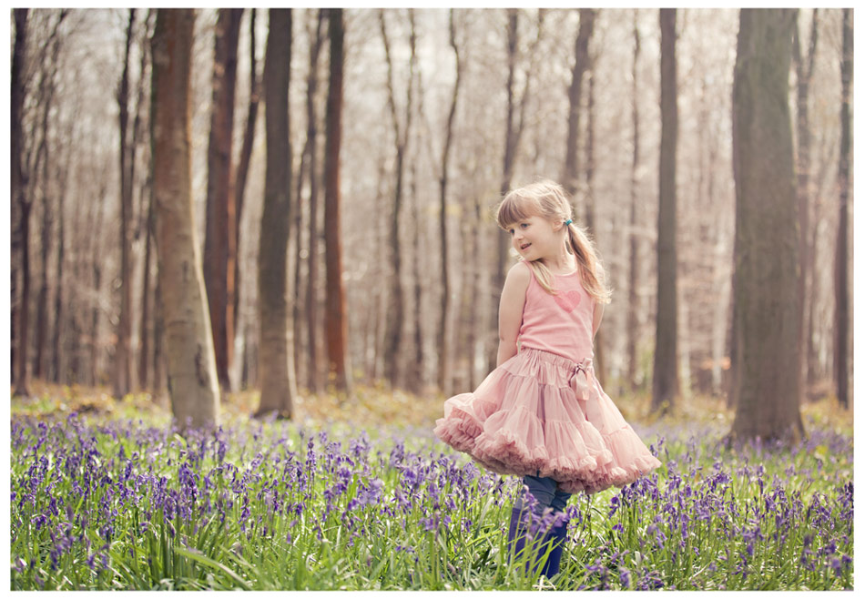 Childrens Bluebell photoshoot Kent