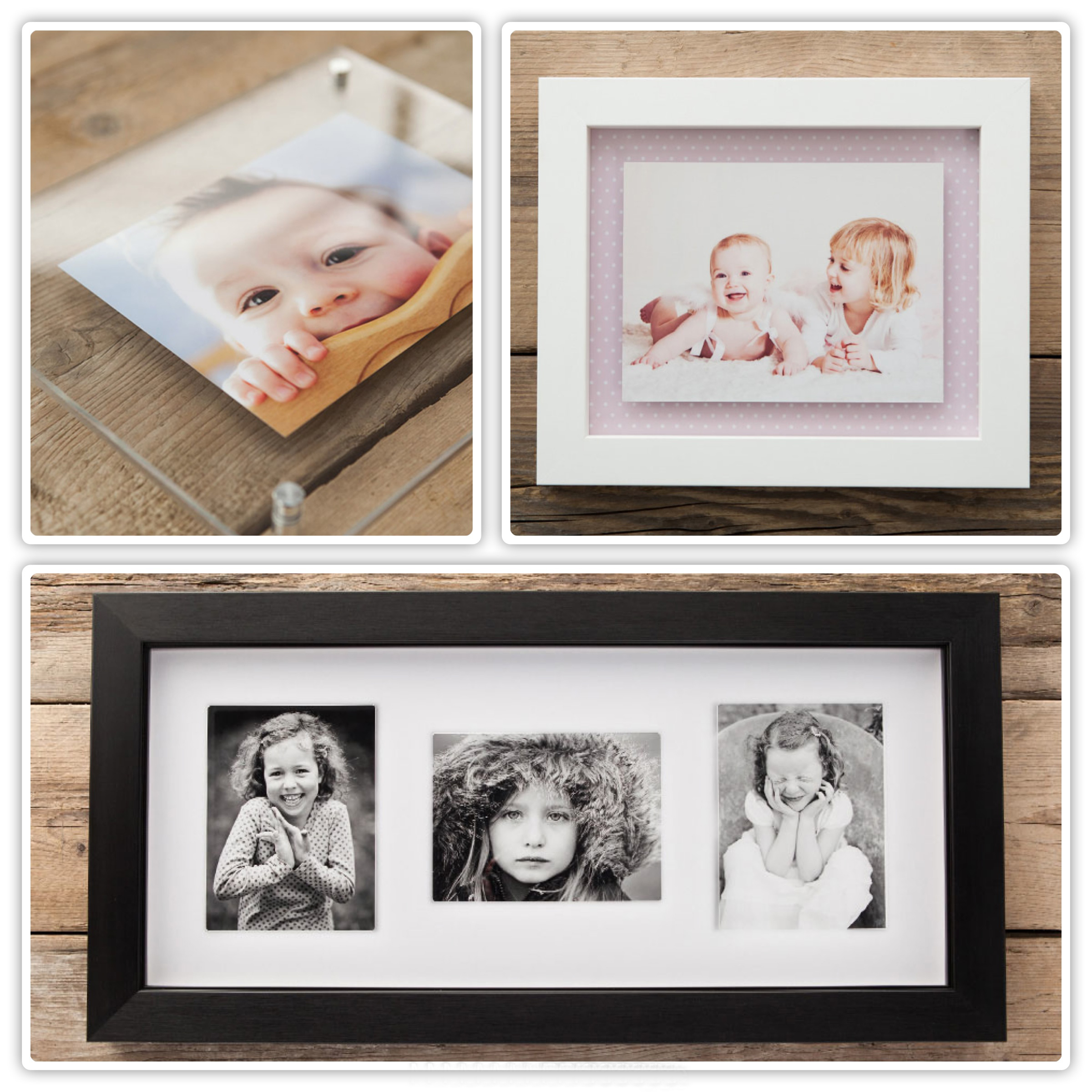 Photography package photo frames