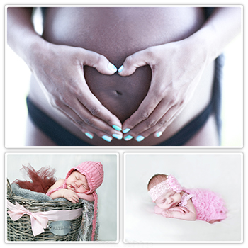 Bump to baby photograph collage