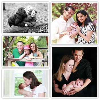 Family photography Collage in the Kent countryside